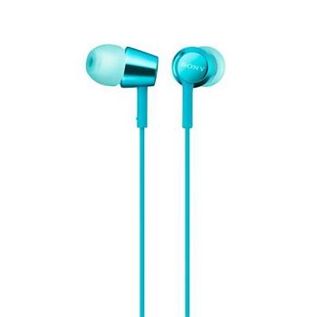 SONY MDR-EX155AP入耳式耳機-淺藍