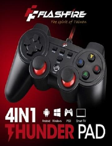 FlashFire 4合一有線遊戲手把-黑紅 SF4-11204V-BR