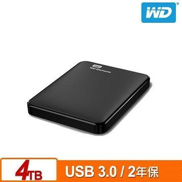 【4TB】WD 2.5吋 行動硬碟(Elements WESN) WDBU6Y0040BBK-WESN