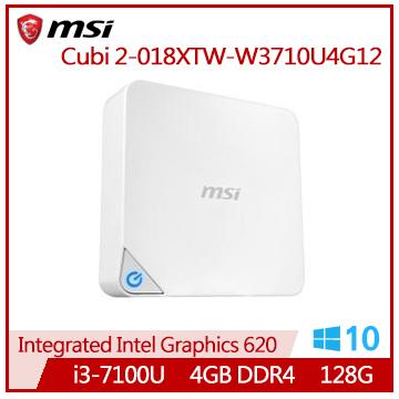 【福利品】MSI Cubi 2-018XTW i3-7100U雙核迷你型主機