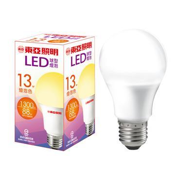 東亞13W LED球型燈泡-燈泡色