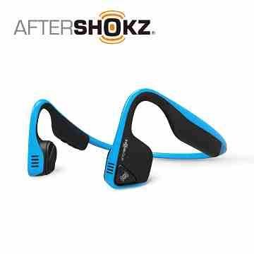 (公司貨)AFTERSHOKZ 骨傳導運動藍牙耳麥 藍色