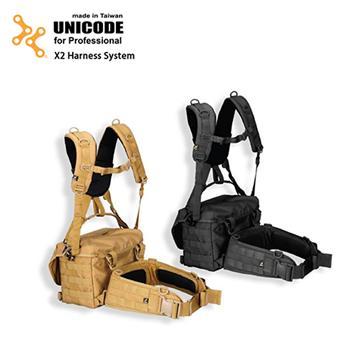 UNICODE  通用雙肩腰封負重系統 X2 經典黑