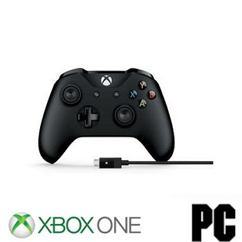 微軟Microsoft 電競手把含電腦連接線 for PC+XBOX ONE 4N6-00003