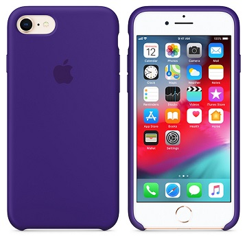 【iPhone 8 / 7 】矽膠保護殼-炫紫色