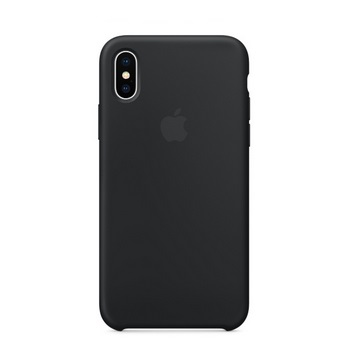 iPhone X 矽膠保護殼-黑色