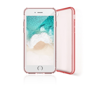 【iPhone 8 / 7 】 JTLEGEND 雙料減震保護殼-透粉
