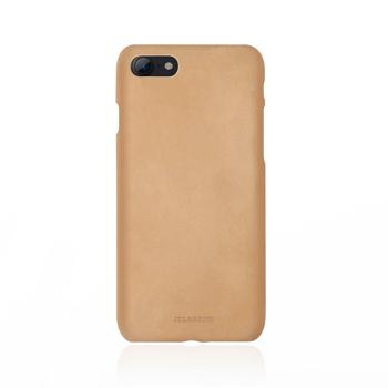 【iPhone 8 / 7】JTLEGEND 設計師款巴戈皮背蓋-杏黃