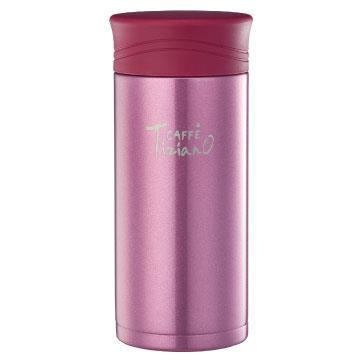 【拆封品】Tiziano 400ml不銹鋼保溫保冷真空杯-粉紅