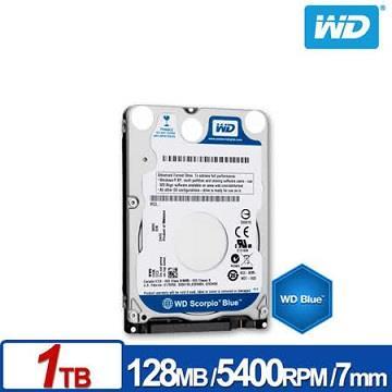 WD 2.5吋 1TB SATA硬碟(藍標)