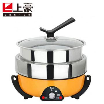 【福利品】上豪3.5L三層火烤料理鍋
