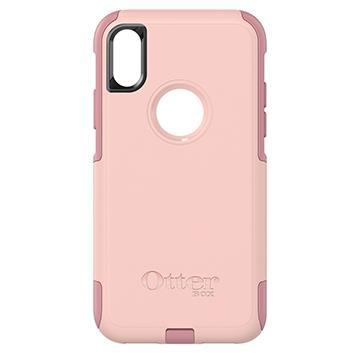 【iPhone X】OtterBox Commuter防摔殼-粉