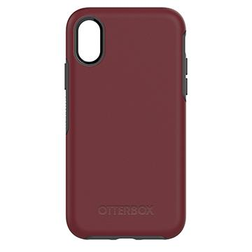 【iPhone X】OtterBox Symmetry防摔殼-紅