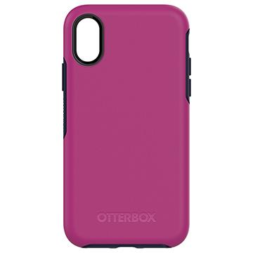 【iPhone X】OtterBox Symmetry防摔殼-紫