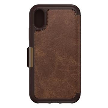 【iPhone X】OtterBox Strada真皮防摔殼-棕