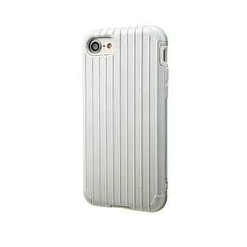 【iPhone 8 / 7】GRAMAS Rib經典行李箱手機殼 - 白
