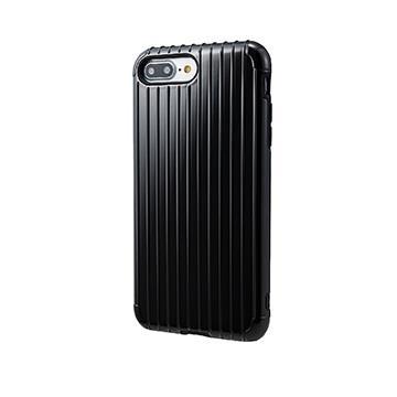 【iPhone 8 Plus / 7 Plus】GRAMAS Rib經典行李箱手機殼 - 黑
