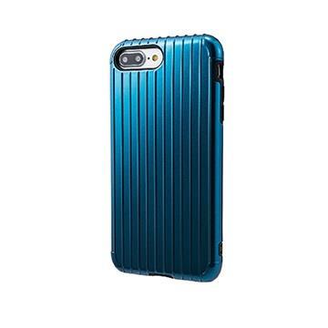 【iPhone 8 Plus / 7 Plus】GRAMAS Rib經典行李箱手機殼 - 藍