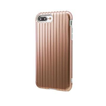 【iPhone 8 Plus / 7 Plus】GRAMAS Rib行李箱手機殼 - 玫瑰金