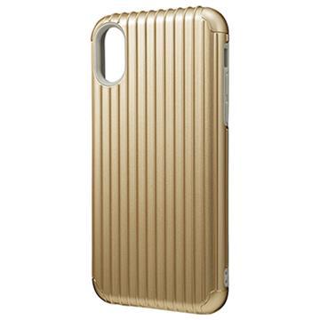 【iPhone X】GRAMAS Rib經典行李箱手機殼-金