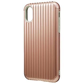 【iPhone X】GRAMAS Rib行李箱手機殼-玫瑰金