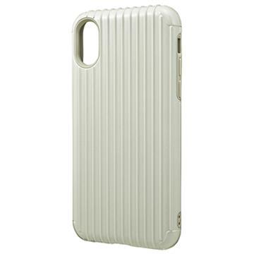 【iPhone X】GRAMAS Rib經典行李箱手機殼-白