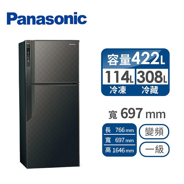 Panasonic 422公升雙門變頻冰箱