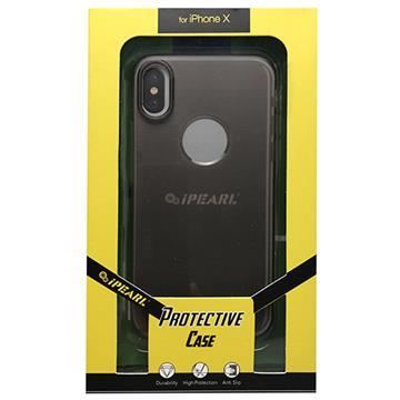 【iPhone X】iPearl 極薄保護殼-灰
