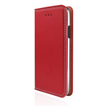 【iPhone X】JTLEGEND 設計師款側掀皮套 - 紅