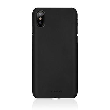 【iPhone X】JTLEGEND 設計師款巴戈真皮背蓋 - 黑