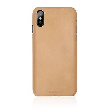 【iPhone X】JTLEGEND 設計師款巴戈皮背蓋 - 杏黃