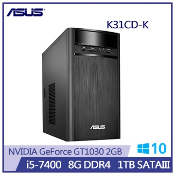 【拆封品】ASUS VivoPC K31CD i5-7400 GT1030 8G-DDR4 1TB桌上型主機