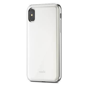 【iPhone X】Moshi iGlaze 超薄時尚背殼 - 白
