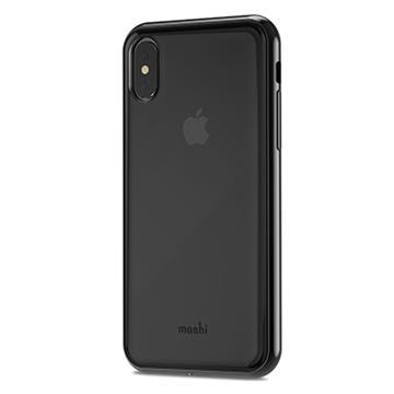 【iPhone X】Moshi Vitros 超薄透亮背殼 - 烏黑