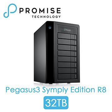 PROMISE Pegasus3 R8 Thunderbolt3 32TB PEGASUS3R8 32TB