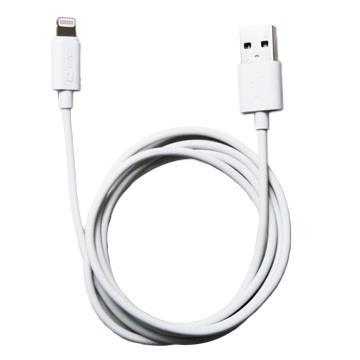 QPNP Apple授權lightning充電傳輸線1M - 白色 QPLX1M