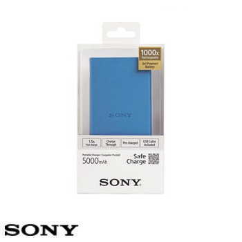 【5000mAh】SONY CP-V5B 行動電源 - 藍色