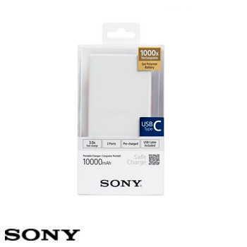 【10000mAh】SONY CP-VC10 TYPE-C 行動電源 - 白色