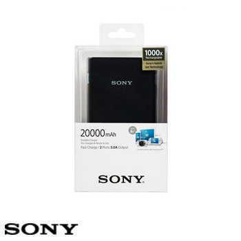 【20000mAh 】SONY CP-V20 行動電源 - 黑色