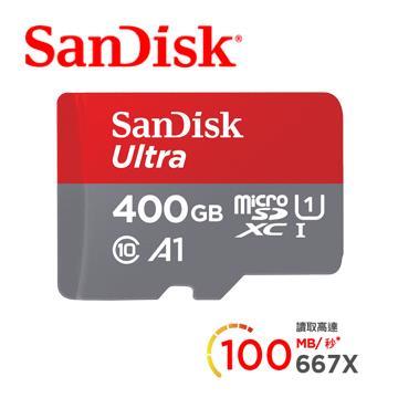 「公司貨」【400G / Ultra A1】SanDisk MicroSD記憶卡 SDSQUAR-400G-GN6MA