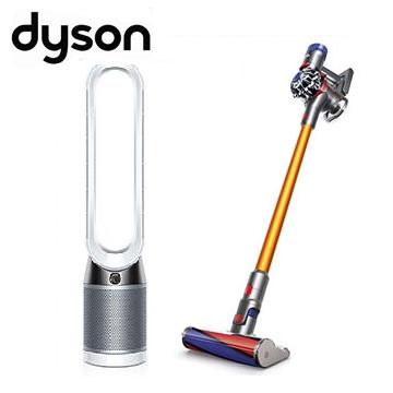 (限時優惠組)Dyson V8 Carbon Fibre無線吸塵器+智慧空氣清淨機TP04(白)