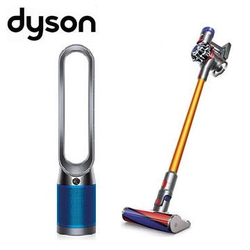 (限時優惠組)Dyson V8 Carbon Fibre無線吸塵器+智慧空氣清淨機TP04(藍)