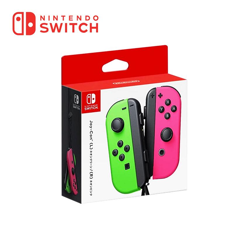 【配件上滿組】任天堂 Nintendo Switch Joy-con(左右手套裝) - 粉&綠