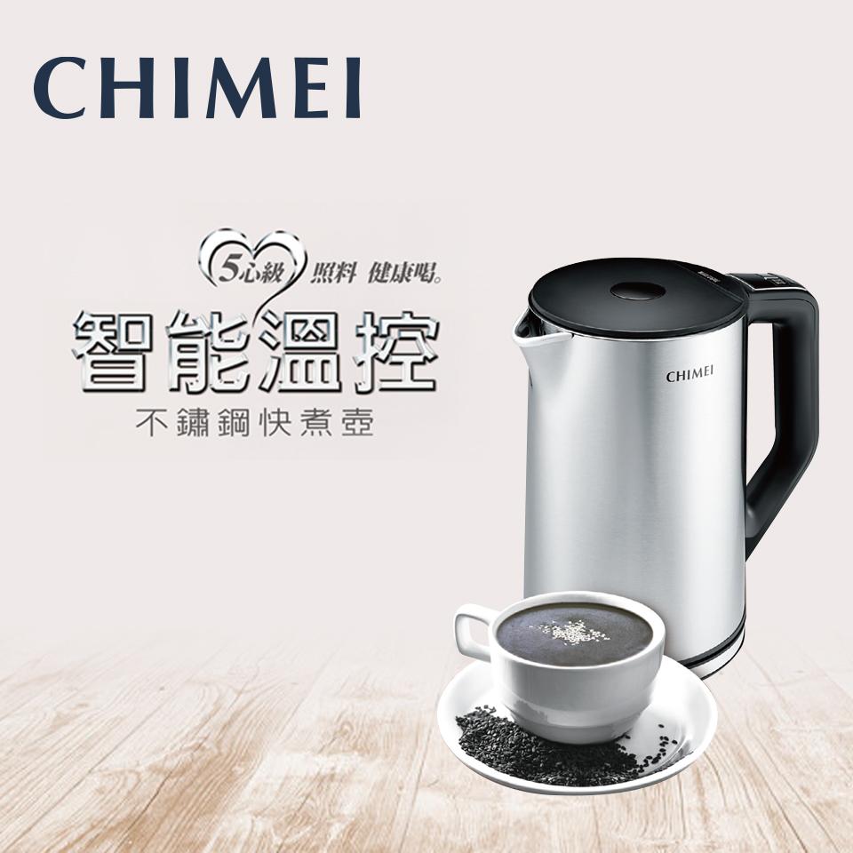 CHIMEI 1.5L五心級溫控不鏽鋼快煮壺 KT-15MDT0