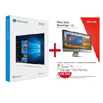 【組合包】微軟 Microsoft Windows 10 中文家用完整版 USB +Parallels Desktop 14 for Mac 隨機版 PD14-隨機版