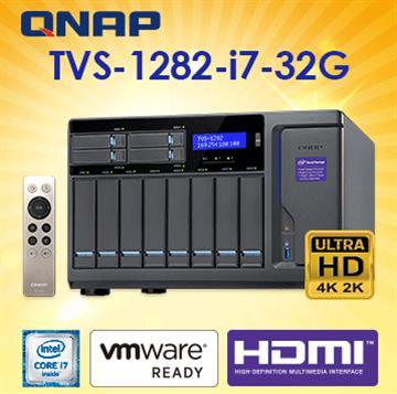 QNAP威聯通TVS-1282-i7-32G網路儲存伺服器