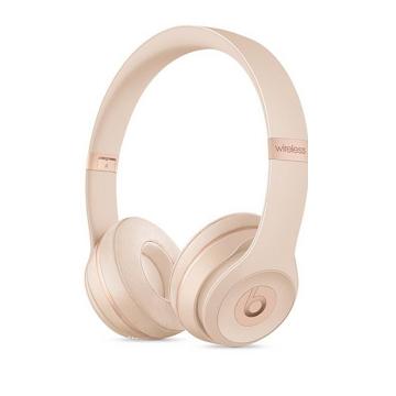 展示機-Beats Solo3 Wireless頭戴式耳機-磨砂金