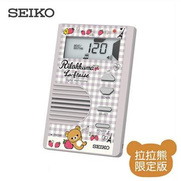 SEIKO 拉拉熊名片型節拍器-淺灰色