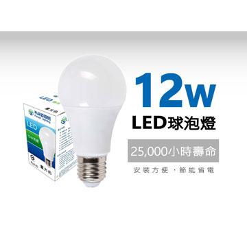 木林森 12W LED燈泡-白光