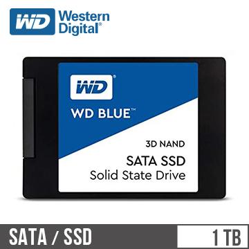 "WD SSD Blue系列-2.5"" 1TB固態硬碟(3D TLC)"